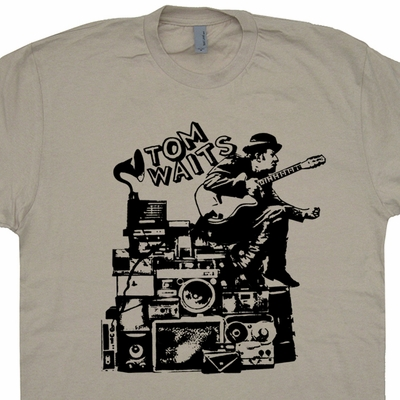 Tom Waits T Shirt Vintage Rock Shirts Nick Cave Tee Shirt Tom Waits Tee