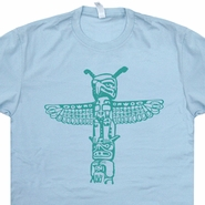 Totem Pole T Shirt Alaska T Shirt Vintage Native American Indian T Shirt