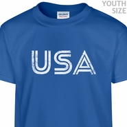 USA Logo T Shirt Soccer Baseball Vintage T Shirts Youth Kids Shirts