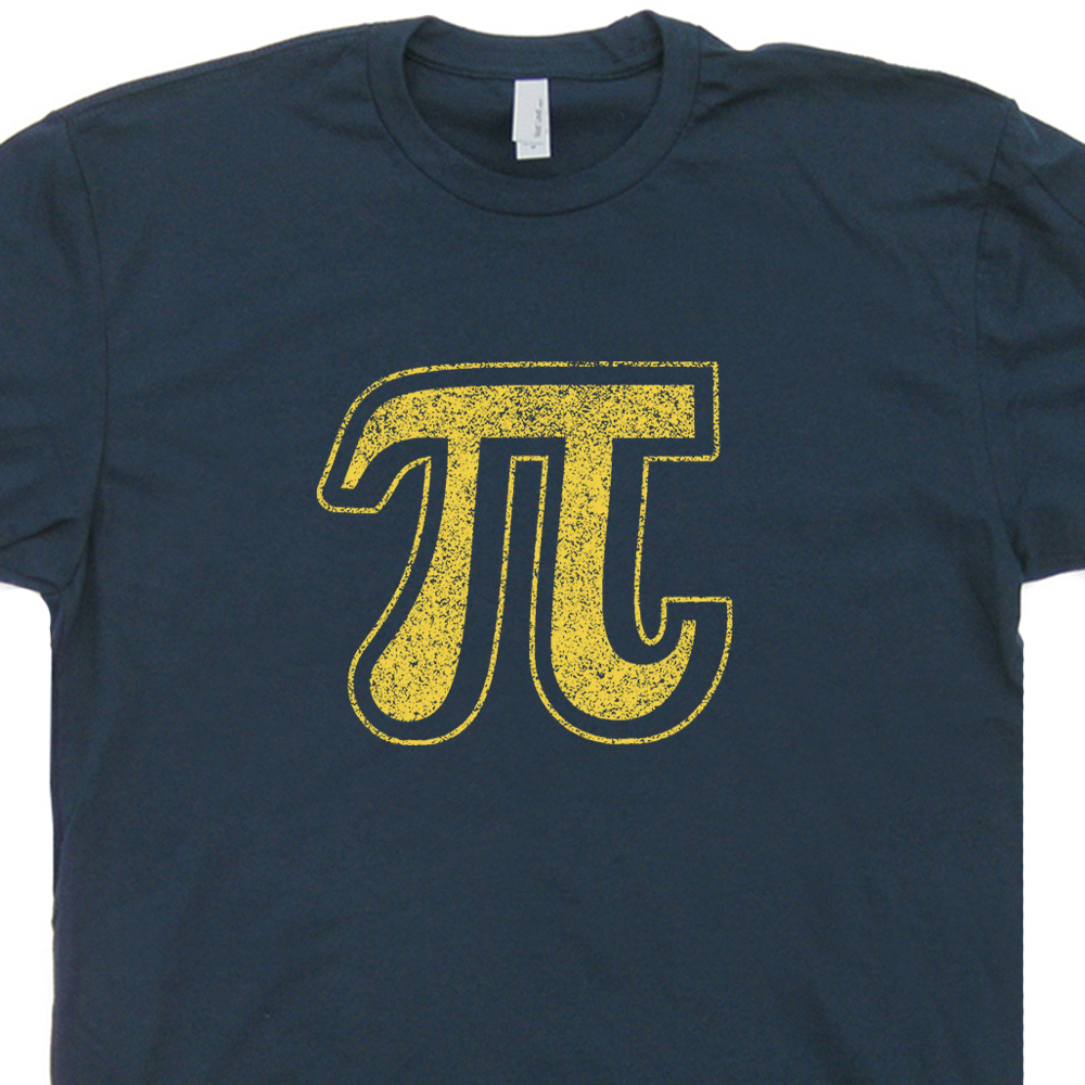 3b2277270 Vintage Pi Symbol T Shirt Cool Math Shirt Funny Geek T Shirt Pie Symbol