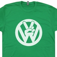 VW Volkswagen T Shirts Vintage Funny Peace Symbol Tee Shirts