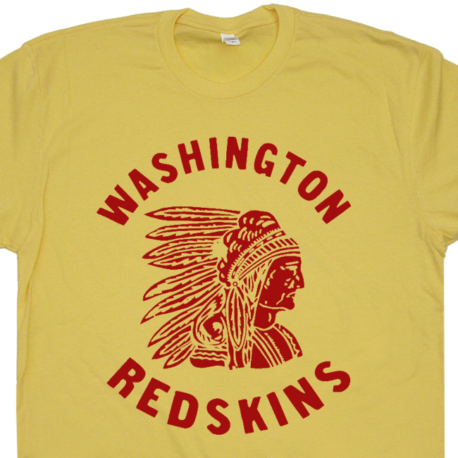 Washington redskins vintage t shirts retro throwback for Old logo t shirts