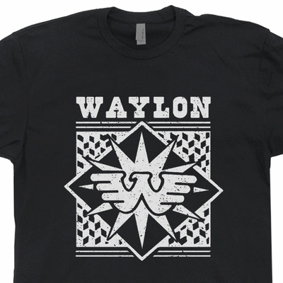 Waylon Jennings T Shirt Vintage Country Music Tee Shirts
