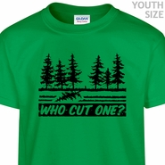 Who Cut One T Shirt Funny Youth Shirt Kids Fart Joke T Shirt