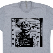 Yoda Mug Shot T Shirt Vintage Star Wars Shirt 80s Movie T Shirts Funny Tee
