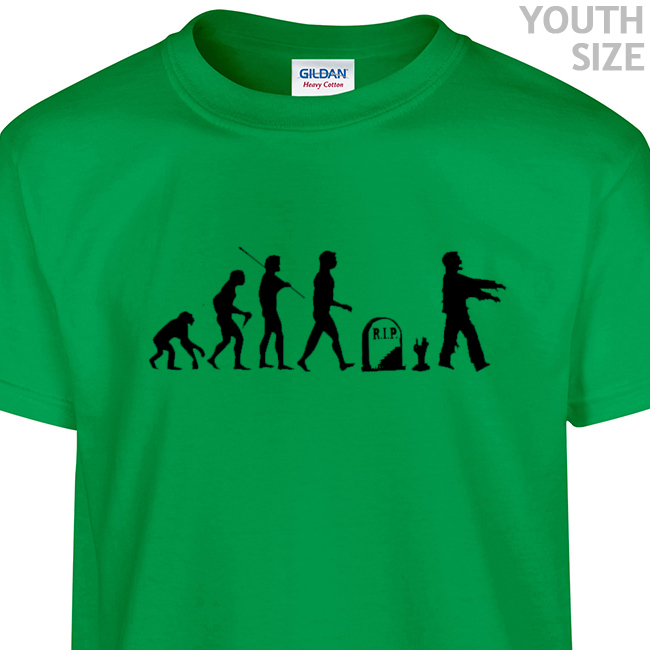 Zombie T Shirt | Funny Zombie Evolution Kids Shirt | Youth Zombie ...