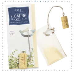 FLOATING TEA BATH CLIP SET<BR>1 Bath Clip + 10 Tea Bags