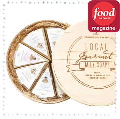 FOOD NETWORK MAGAZINE EDITION<BR>Local Gourmet Milk Soaps Set