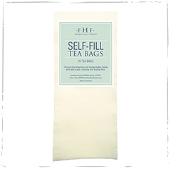 SELF-FILL TEA BAGS<BR>Chlorine-Free Bleached & Biodegradable