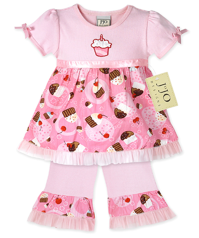 2pc Birthday Cupcake Outfit by Sweet Jojo Designs - Click to enlarge