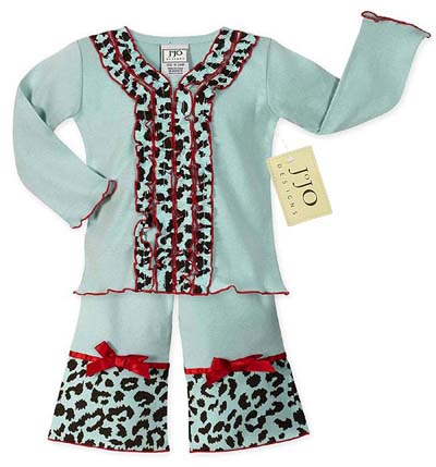 2pc Chic Cheetah Print Baby Girls Boutique Outfit - Click to enlarge