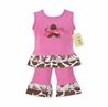 2pc Giraffe Print Baby Girls Outfit by Sweet Jojo Designs