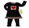 2pc Heart and Leopard Print Baby Girls Outfit by Sweet Jojo Designs