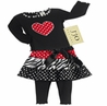 2pc Polka Dot and Zebra Girls Leggings Outfit by Sweet Jojo Designs
