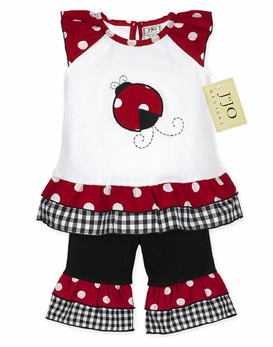 2pc Polka Dot Ladybug Baby Girl Outfit by Sweet Jojo Designs - Click to enlarge