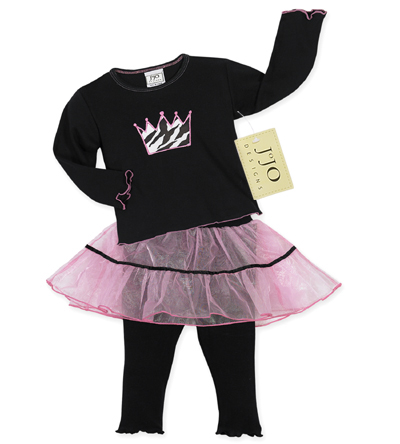 2pc Princess Tutu Baby Girls Leggings Outfit by Sweet Jojo Designs - Click to enlarge