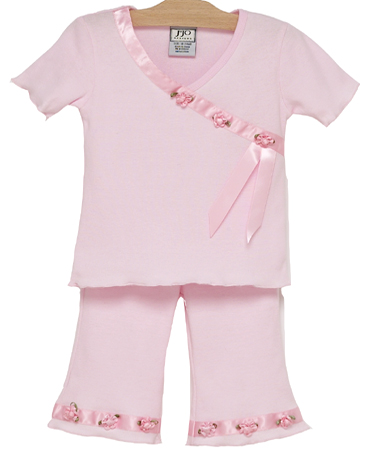 2pc Satin Ribbon Capri Outfit by Sweet Jojo Designs - Click to enlarge