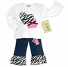 2pc Zebra Heart and Polka Dot Baby Jeans Outfit by Sweet Jojo Designs