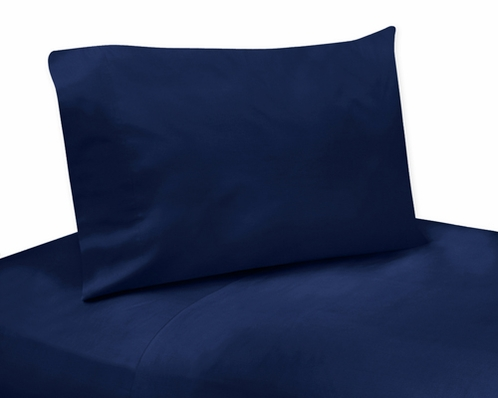 3 pc Navy Twin Sheet Set for Blue and Green Mod Dinosaur Bedding Collection - Click to enlarge