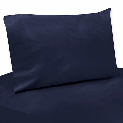 4 pc Solid Blue Queen Sheet Set for Arrow Bedding Collection - Click to enlarge