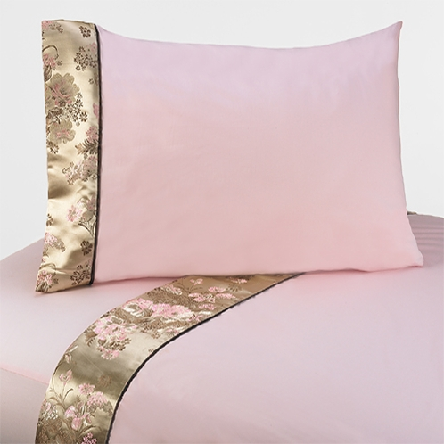 3 pc Twin Sheet Set for Abby Rose Bedding Collection - Click to enlarge