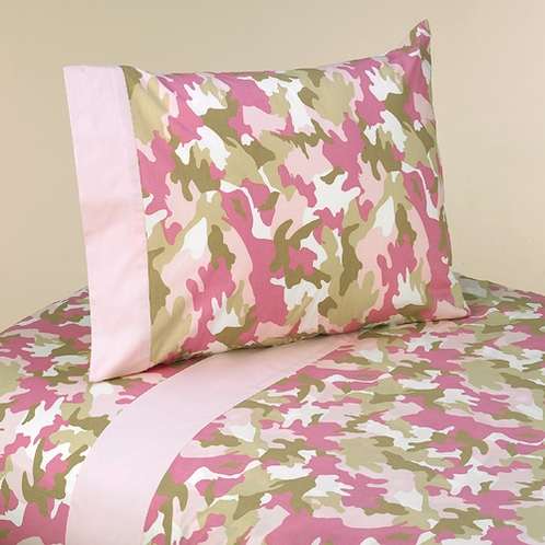 3 pc Twin Sheet Set for Camo Pink Bedding Collection - Click to enlarge
