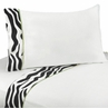 4 pc Queen Sheet Set for Lime Funky Zebra Bedding Collection