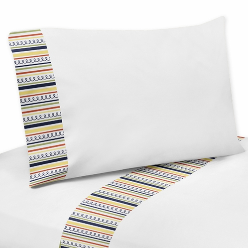 3 pc Twin Sheet Set for Modern Robot Bedding Collection - Click to enlarge