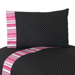4 pc Queen Sheet Set for Pink and Black Madison Bedding Collection