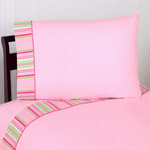 4 pc Queen Sheet Set for Pink and Green Jungle Friends Bedding Collection