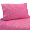 3 pc Twin Sheet Set for Pink Happy Owl Bedding Collection by Sweet Jojo Designs