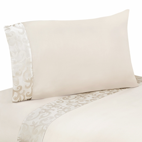 3 pc Twin Sheet Set for Victoria Bedding Collection by Sweet Jojo Designs - Click to enlarge