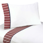 3 pc Twin Sheet Set for Vintage Aviator Bedding Collection