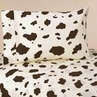 3 pc Twin Sheet Set for Wild West Cowboy Bedding Collection - Cow Print