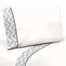 4 pc Queen Sheet Set for Black and Gray Chevron Zig Zag Bedding Collection by Sweet Jojo Designs