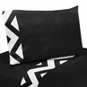 4 pc Queen Sheet Set for Black and White Chevron Bedding Collection