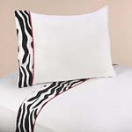 4 pc Queen Sheet Set for Funky Zebra Bedding Collection