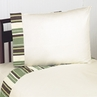 4 pc Queen Sheet Set for Green and Brown Ethan Modern Bedding Collection