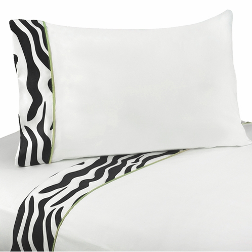 4 pc Queen Sheet Set for Lime Funky Zebra Bedding Collection - Click to enlarge