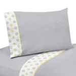 3 pc Twin Sheet Set for Mod Garden Bedding Collection by Sweet Jojo Designs