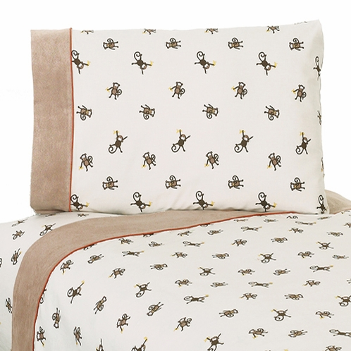 4 pc Queen Sheet Set for Monkey Bedding Collection - Click to enlarge