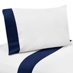 4 pc Queen Sheet Set for Navy, Mint and Grey Woodsy Bedding Collection by Sweet Jojo Designs