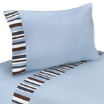 4 pc Queen Sheet Set for Starry Night Stars and Moons Bedding Collection