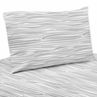 4 pc Wood Grain Print Queen Sheet Set for Grey and White Woodland Deer Bedding Collection