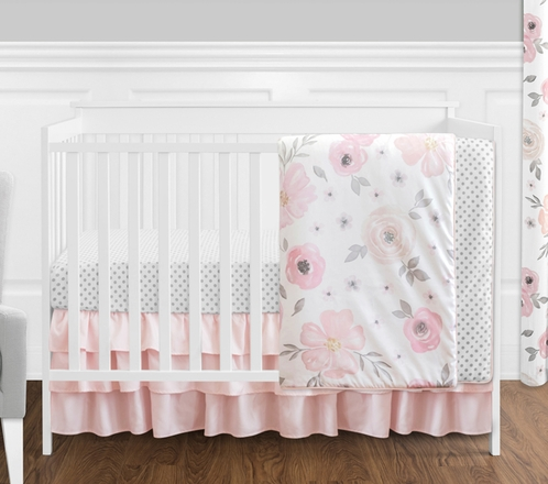 stella co lolli decor textiles crib bed skirt full roomset living products