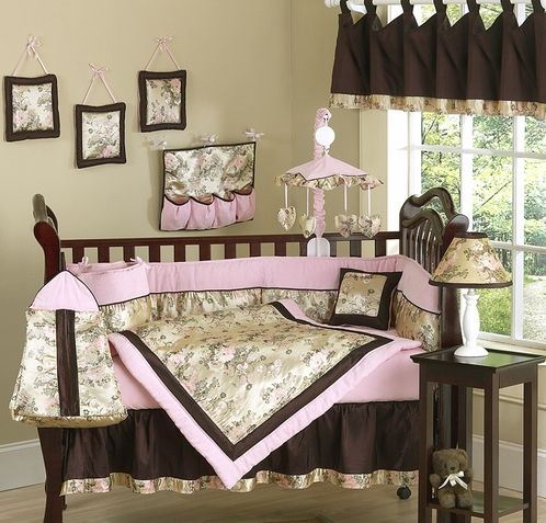 Abby Rose Asian Baby Bedding - 9 pc Crib Set - Click to enlarge