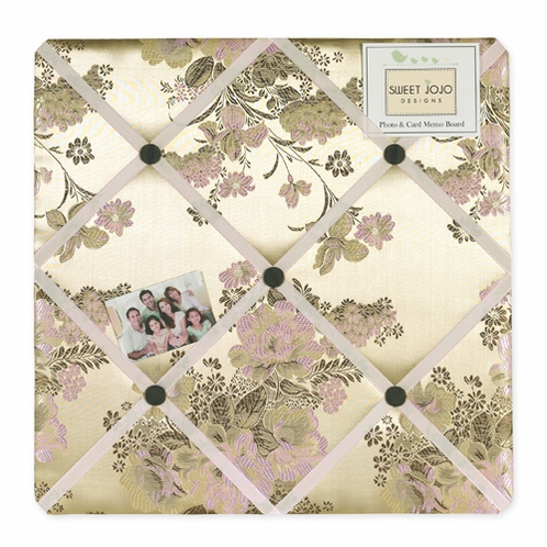Abby Rose Fabric Memory/Memo Photo Bulletin Board - Click to enlarge