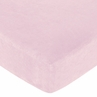 Abby Rose Fitted Crib Sheet for Baby and Toddler Bedding Sets by Sweet Jojo Designs - Solid Pink Microsuede