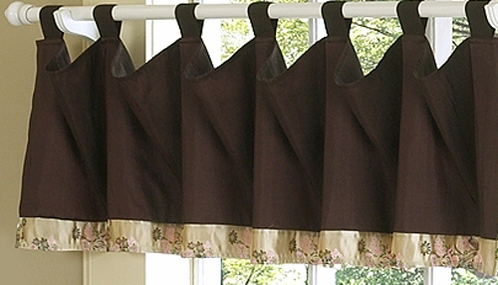 Abby Rose - Pink and Brown Window Valances - Accessories - Click to enlarge