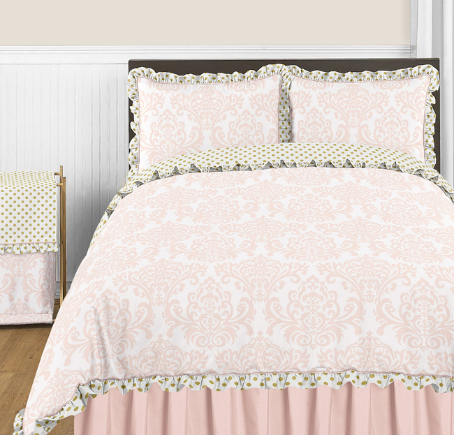 Blush Pink Gold And White Amelia Collection Window Valance By Sweet